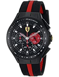 Ferrari Mens 0830023 Race Day Analog Display Quartz Black Watch