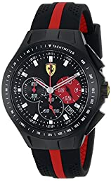 Ferrari Men\'s 0830023 Race Day Analog Display Quartz Black Watch