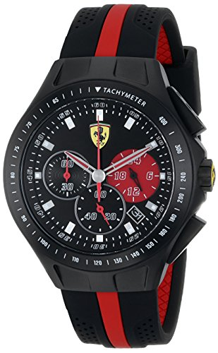 Ferrari Men's 0830023 Race Day Analog Display Quartz Black Watch by Ferrari