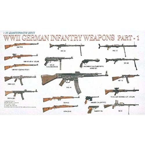 Dragon Models 1/35 WWII German Infantry Weapons Part 1 Dragon Model Kits (35 German Gun)
