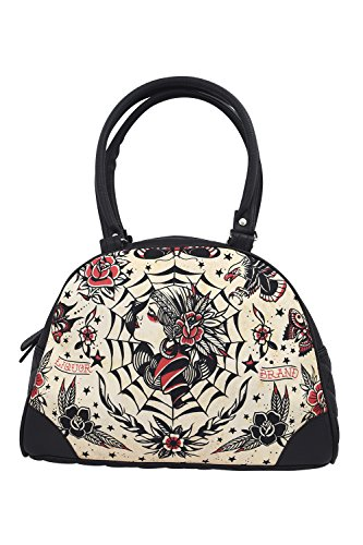 Bowling Purse - Liquor Brand Gypsy Queen Flash Tattoo Art Bowling Bag Purse Handbag