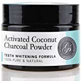 Charcoal Teeth Whitening Powder Activated Mint - LARGE 70g / 2.5oz (6 Months Supply) | 100% Pure & Natural & Vegan | Tooth Whitening, Coconut Active organic ingredients | Safe & Effective Whitener for Normal and Sensitive Gum | Black Friday Stocking Stuffers Secret Santa Holiday Gift under 15