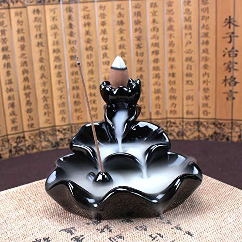 NYWENY Belle Encensoir en Porcelaine Br/ûleur DEncensoir H/ôtel Bouddhiste Encens Bois De Santal Chute deau /À Contre-Courant Classique