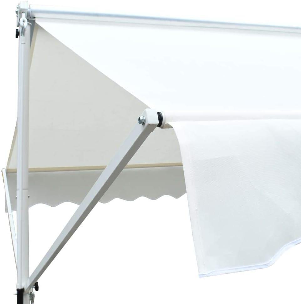 Tidyard Tenda da Sole a Gazebo,Tende Parasole,Ombrellone da Giardino Gazebo Impermeabile Quadrato 3x3 m Crema