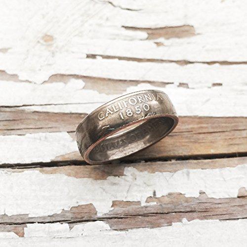 Handmade State Quarter Ring California Size 7 Gift (Quarter Rings)
