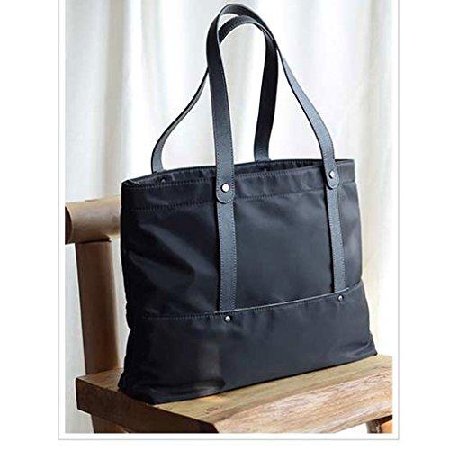 Mode à Tout Nylon Sac Léger en Cuir avec à Commute fourre fashion LF Pratique Femme Oxford Sac bag Sac Provisions Tissu Bandoulière Tq6F6S