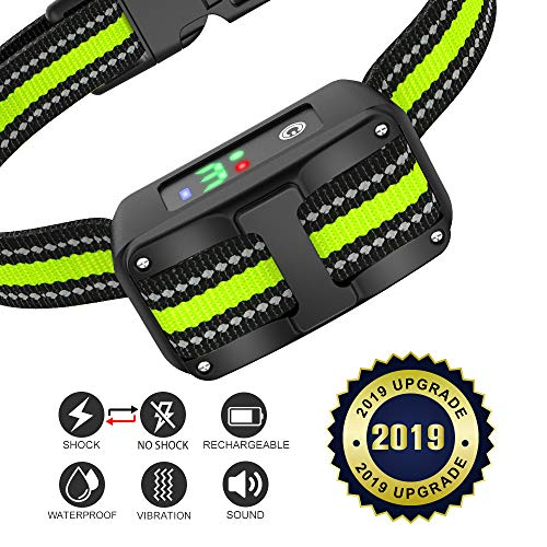 VINSIC Dog Bark Collar Anti Barking – Rechargeable Bark Control Training Collar for Small Medium Large Dogs – Barking Stopper with Beep and Vibration