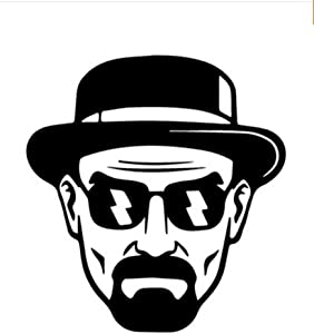 Heisenberg Breaking Bad Vinyl Decal Sticker | Cars Trucks Vans Walls Laptops Cups | Black | 5.5 inches | KCD1516