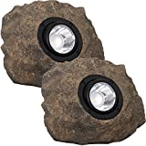 Westinghouse Solar Rock Lights - Adjustable Beam 20 Lumens LED Spot Light, 2 Pack