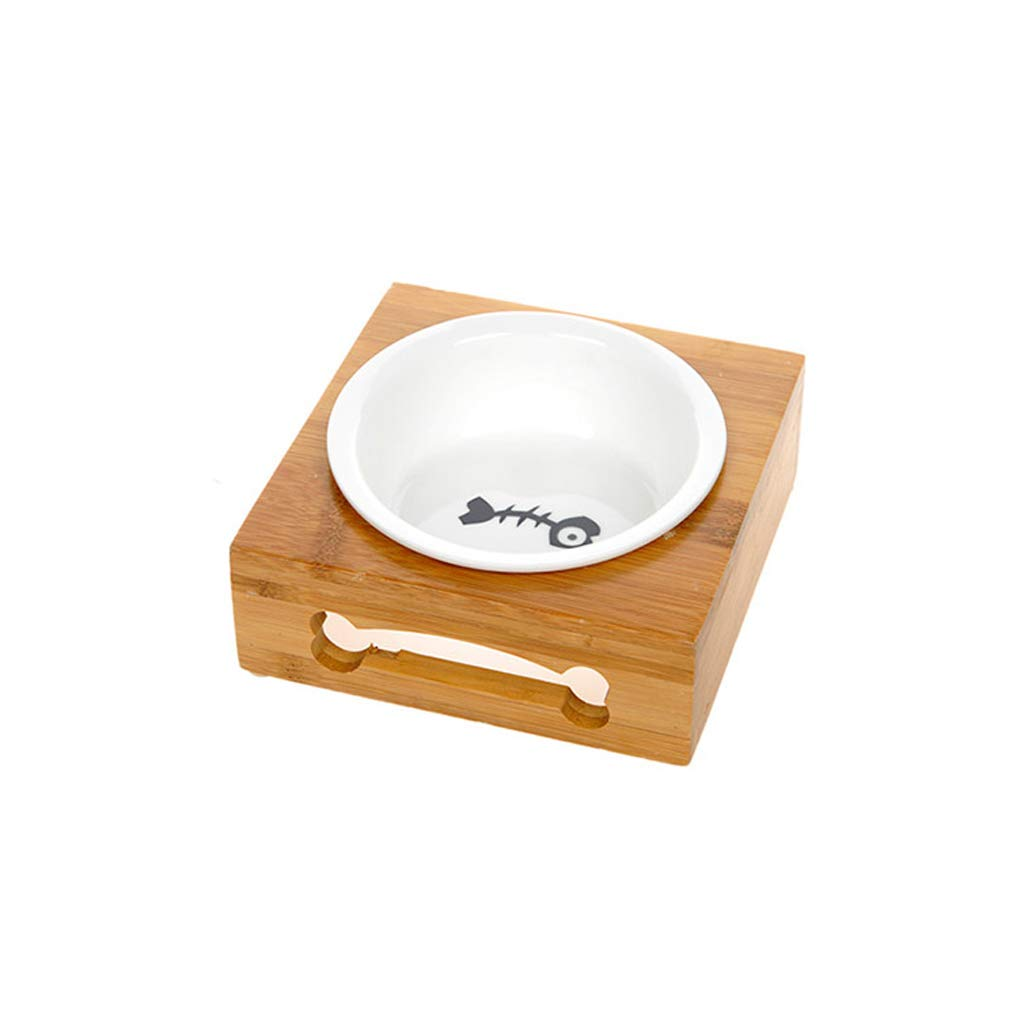 M MXD Pet Supplies Dog Bowl Cat Bowl Rice Bowl Ceramic Cat Pot Cat Food Bowl Dish Dog Bowl Pet Food Supplies