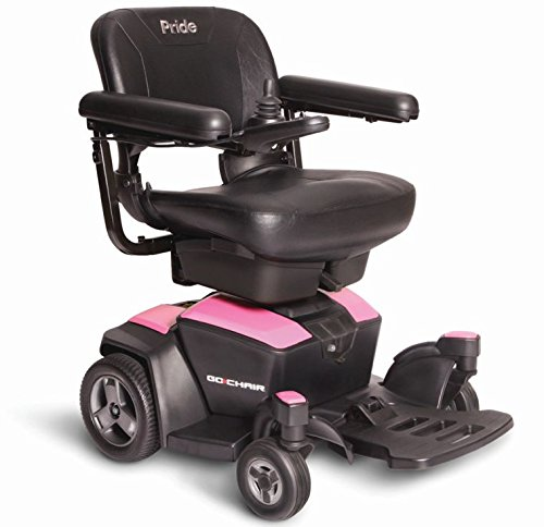New GO CHAIR Pride Mobility Travel Electric Powerchair + 18AH batteries upgrade (Rose Quartz)