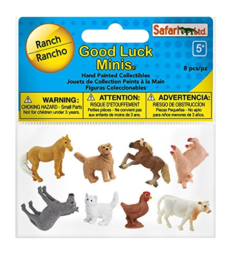 Safari Ltd Good Luck Minis  Ranch - Realistic Hand Painted Toy Figurine Model - Quality Construction from Safe and BPA Free Materials - For Ages 5 and Up