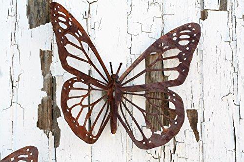 Rustic Butterfly Wall Art by 81 Metal Art
