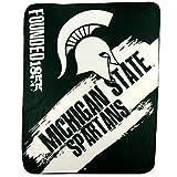 NCAA Collegiate School Logo Fleece Blanket (Michigan State Spartans)