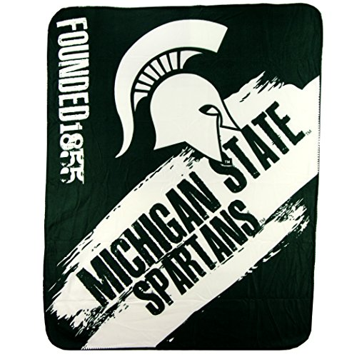The Northwest Company NCAA Collegiate School Logo Fleece Blanket (Michigan State Spartans) -
