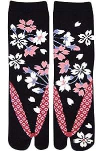 Japanese Samurai Ninja Tabi Socks; Blossoming Sakura