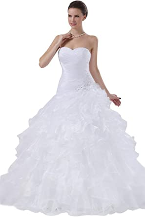 sunvary 2016 soft organza ball gown wedding dresses for bride vintage white us size 2