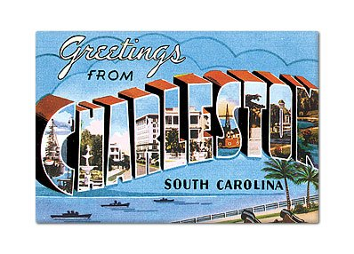 Price comparison product image Greetings from Charleston South Carolina Fridge Magnet