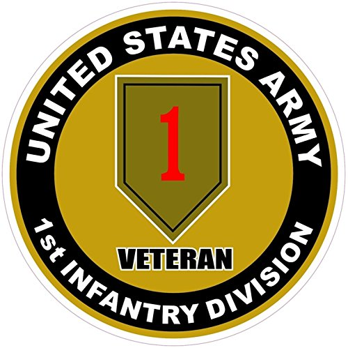 1 Pc Grand Fashionable U.S. Army 1st Infantry Division Veteran Stickers Signs Windows Doors Vinyl Size 4.5