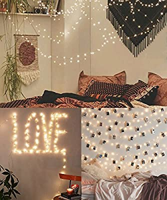 20 LED Photo Clip String Lights, Christmas Indoor String starry light, Fairy Twinkle Lights Battery Powered for Party/Wedding/Christmas Décor, Perfect Anniversary Ornament