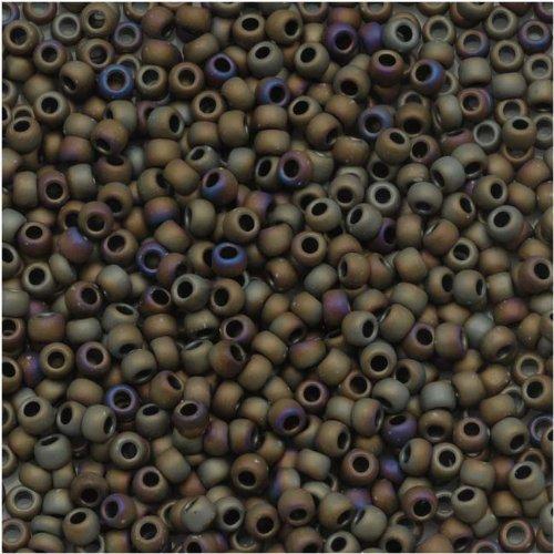 (Toho Round Seed Beads 11/0#614 'Matte Iris Brown' 8g)