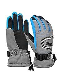Vbiger Kids Ski Gloves Winter Warm Gloves Cold Weather Gloves for Children