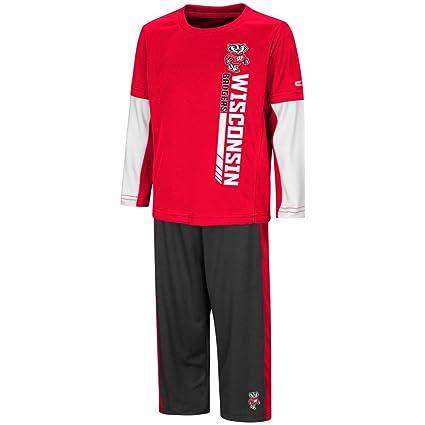 723dbd89f6 Colosseum University of Wisconsin Badgers Toddler Boy s Long Sleeve Shirt  Pant Set ...