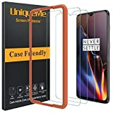 [3 Pack] UniqueMe Compatible with Oneplus 6T Screen Protector,HD Clear Tempered Glass Anti-Scratch with Lifetime Replacement Warranty
