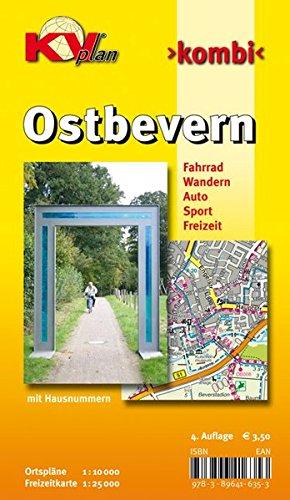 Ostbevern: 1:10000 Gemeindeplan mit Freizeitkarte 1:25000 inkl. Radrouten und Wanderwegen (KVplan Münsterland-Region)