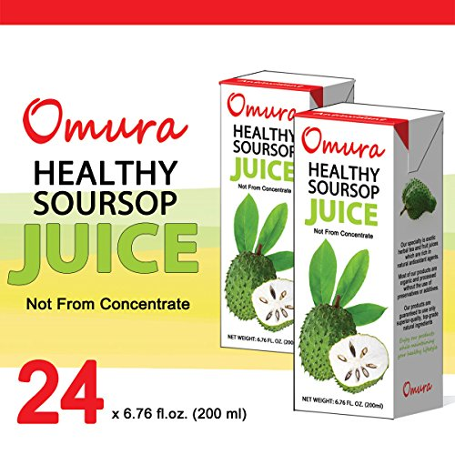 OMURA SOURSOP GRAVIOLA GUANABANA 100% JUICE 6.76 OZ (Pack of 24)