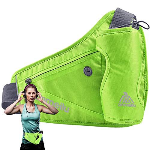 Anmeilu Sport Taille tas, verstelbare klittenband met Becher Treog, waterdichte sport riem tas belbal voor fles voor…