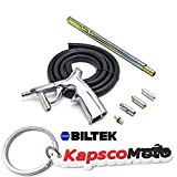 Biltek NEW Sandblaster Kit 7pc Air Nozzles Sandblasting Gun Tubes Pick Up Sand Blaster + KapscoMoto Keychain