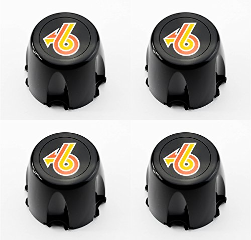 - GM Restoration Set of 4 New Wheel Hub Center Caps Black Turbo 6 Replacement for 1986-1987 Buick Regal Grand National