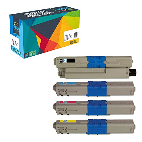 Do it Wiser Compatible Toner Cartridges Replacement for Okidata C310dn C310n C330 C330DN C510dn C530dn MC561dn C331DN C531DN MC361MFP 4-Pack