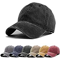 8c498cd81dadd Aedvoouer Men Women Baseball Cap Vintage Cotton Washed Distressed Hats  Twill Plain Adjustable Dad-Hat