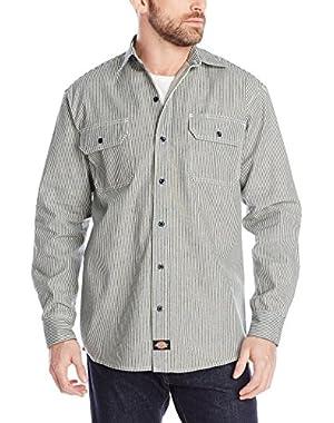 Men's Long Sleeve Button-Front Logger Shirt