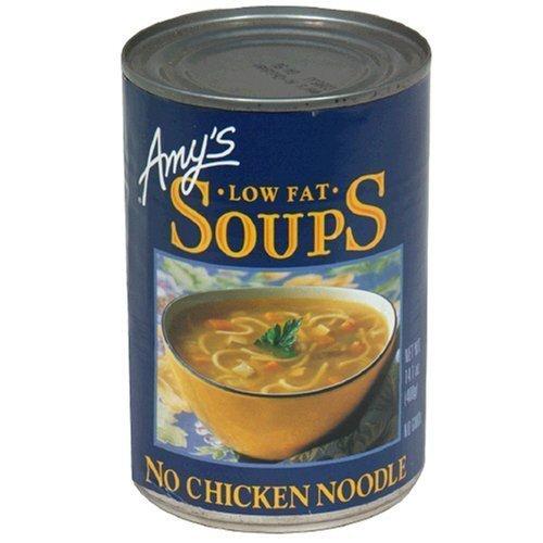 Amy's Low Fat No Chicken Noodle Soup, 14.1-Ounce Cans (Pack of 12) (Amys No Chicken Noodle Soup)