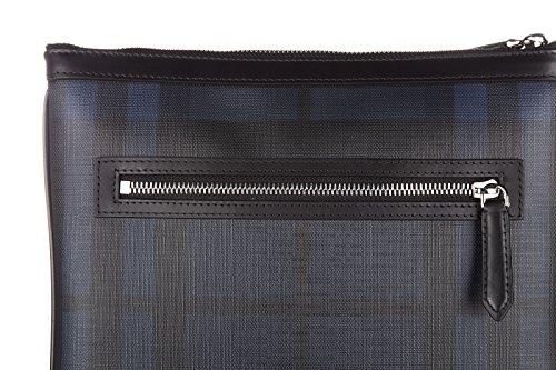 Bolso con Bandolera Burberry Hombre PVC Negro y Blue Navy 3996224NAVYBLACK Negro 27.5x28 cmEU