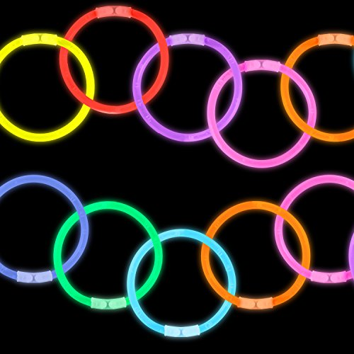 Lumistick 8 Inch 1000 Pack Glow Sticks - Bendable Glow Sticks with Necklace and Bracelet Connectors - Glowstick Bundle Party Bracelets (1000, Assorted) by Lumistick (Image #5)