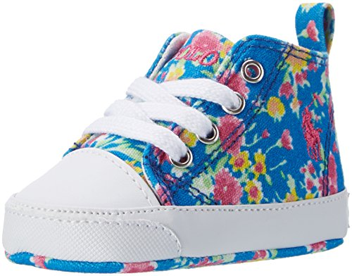 Ralph Lauren Harbour Hi Layette, Mocasines para Bebés Mehrfarbig (Blue with Multi Floral)