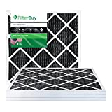 FilterBuy Allergen Odor Eliminator 24x24x1 MERV 8 Pleated AC Furnace Air Filter with Activated Carbon - Pack of 4 - 24x24x1