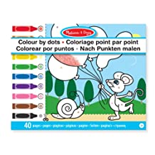 Melissa & Doug Color by Dots - 40 Pages, Includes Color Key for Beginners