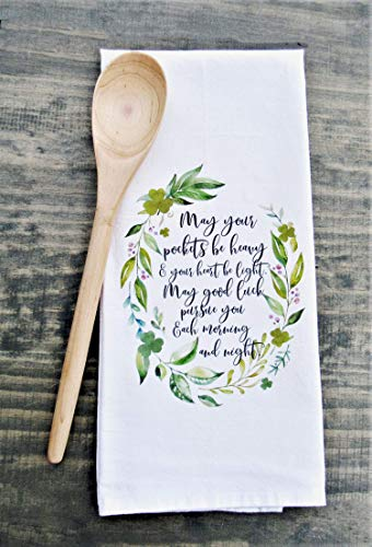 Irish Blessing Kitchen Towel - St. Patrick's Day Decor