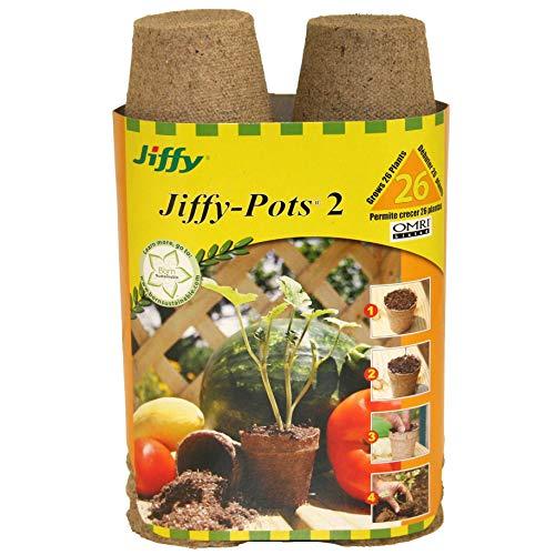 Jiffy JP226 26-Count 2-1/4-inch Pots
