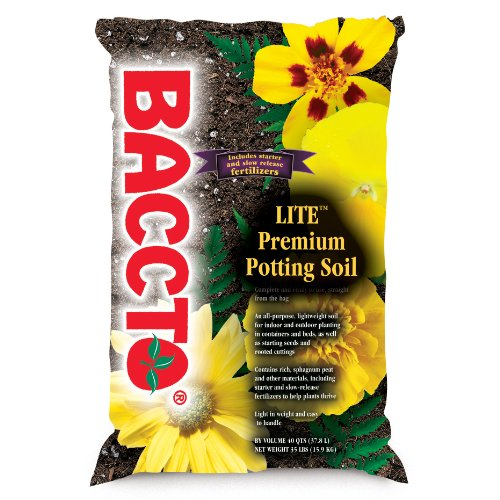 Michigan Peat 1440 Baccto Lite Premium Potting Soil, 40-Quart (Best Fruit Trees To Plant In Michigan)