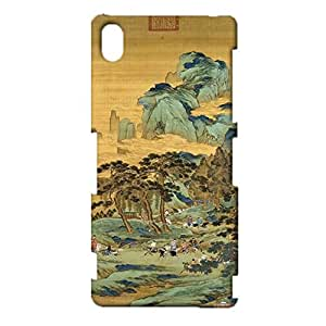 Colorful 3D Design for Sony Xperia Z3 Phone Case Chinese Element Skin for Sony Xperia Z3 Back Cover