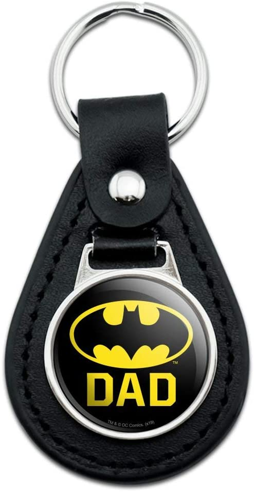 Batman Bat Superhero Logo Black Metal Keychain
