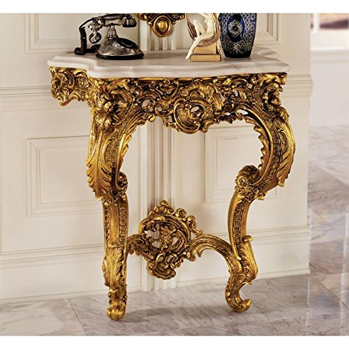 Design Toscano Madame Antoinette Wall Mount Console Table, 35 Inch, Polyresin, Antique ()