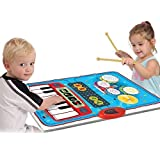 SainSmart Jr. Kids Piano Mat Baby Musical Instruments with 10 Demo Songs,Musical Instruments for toddlers