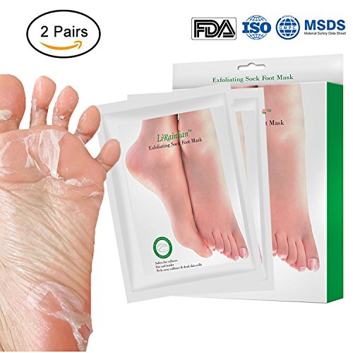 2 Pairs Exfoliant Foot Peel Mask for Soft Feet in 3-7 Days, Exfoliating...